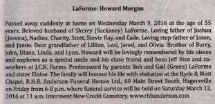 LaForme, Howard Morgan
