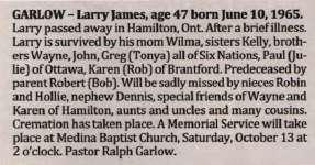 Garlow, Larry James