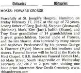 Moses, Howard George