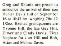 Hill, Hunter Davis