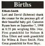 Elliott-Smith, Cameron Ryann