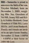 Hill, Treydon Michael
