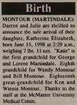 Montour, Katherine Elizabeth