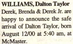 Williams, Dalton Taylor