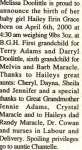 Doolittle, Hailey Erin Grace