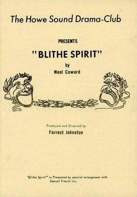 Blithe Spirit program