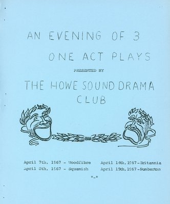 An Evening of 3 One act plays program