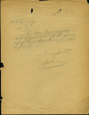 Letter to A.E. Munn from J. Wilkinson, Squamish Board of Trade. RE: Opening of Second Street