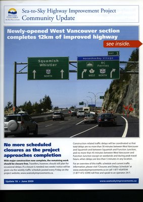 Sea to Sky Highway Community Update