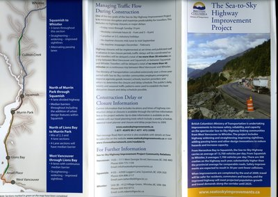 The Sea-to-Sky Highway Improvement Project Brochure