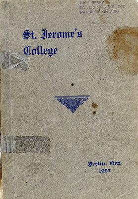 St. Jerome's College Calendar 1907