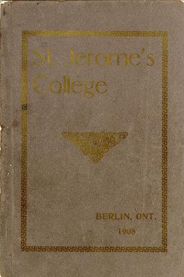 St. Jerome's College Calendar 1908
