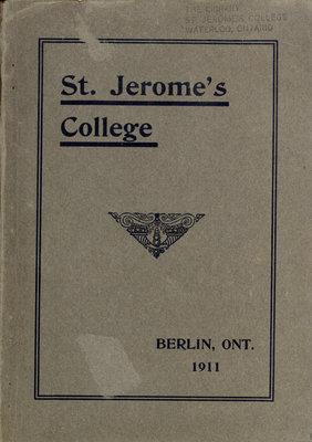 St. Jerome's College Calendar 1911