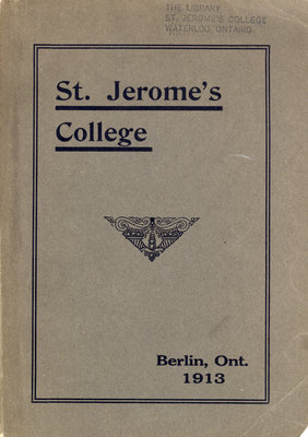 St. Jerome's College Calendar 1913
