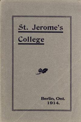 St. Jerome's College Calendar 1914