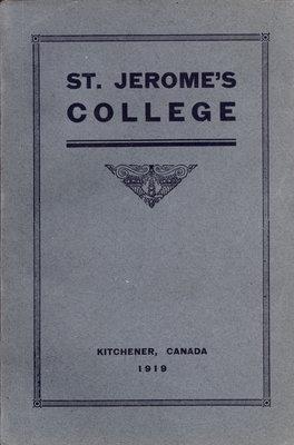 St. Jerome's College Calendar 1919