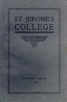 St. Jerome's College Calendar 1920