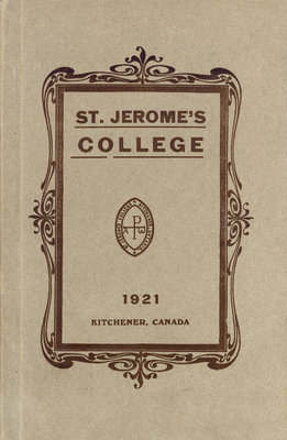 St. Jerome's College Calendar 1921