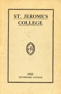 St. Jerome's College Calendar 1925