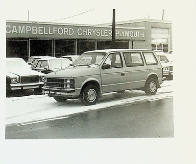Photograph of van, Campbellford Chrysler Plymouth