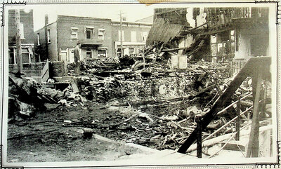 Photograph of 1936 Flood, Mill St. Stirling