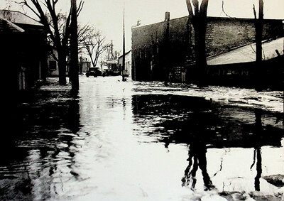 Photograph of 1936 Flood, James St. Stirling