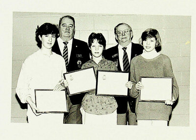 Photograph of Legion Awards Ceremony, Poster Contest Winners