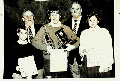 Photograph of Legion Awards Ceremony, Intermediate Category Public Speaking Winners