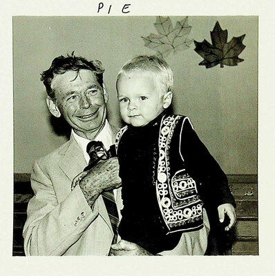 Photograph of a man and child