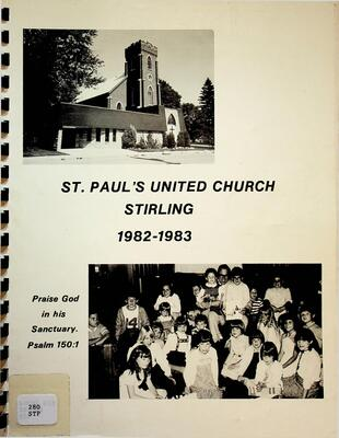 St. Paul's United Church, Stirling, 1982-1983