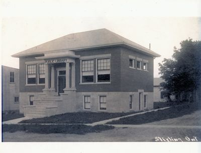 Photograph of the Stirling Library, Stirling, Ontario
