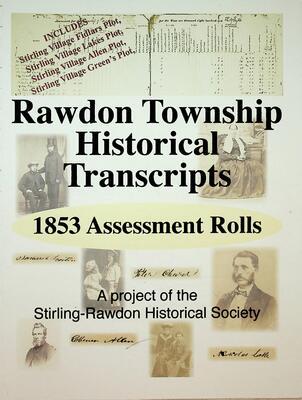 Rawdon Township Historical Transcripts: 1853 Assessment Rolls