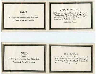 The Mouck Collection of Stirling and Area In Memoriam Cards. Vol. 2 1919-1927