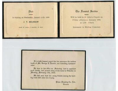 The Mouck Collection of Stirling and Area In Memoriam Cards, Vol. 3 1928-1960