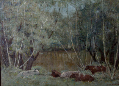 Cattle by the Pond