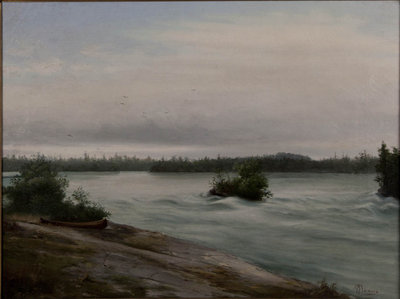 untitled (northern river w/canoe)