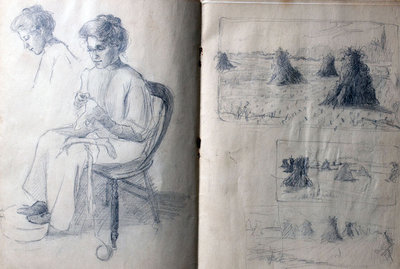 Hortense Gordon, Sketchbook, page 2 of 20