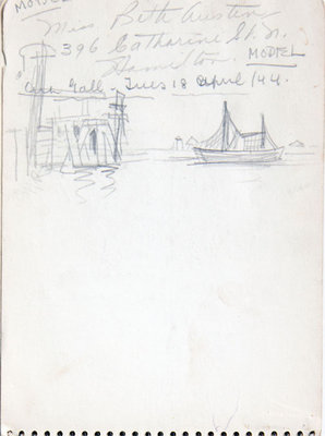 Hortense Gordon, Sketchbook, page 11 of 33