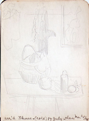 Hortense Gordon, Sketchbook, page 13 of 32