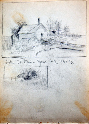 John Gordon, Sketchbook, page 17 of 18
