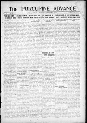 Porcupine Advance, 1 Dec 1920