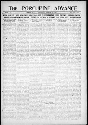 Porcupine Advance, 9 Feb 1921