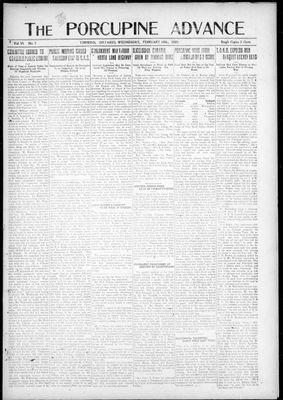 Porcupine Advance, 16 Feb 1921