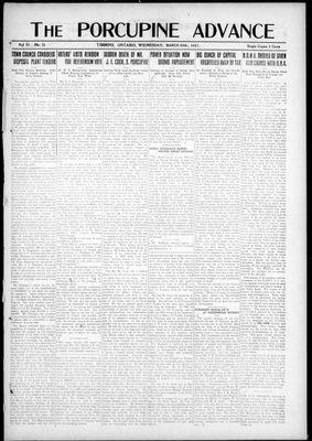 Porcupine Advance, 30 Mar 1921