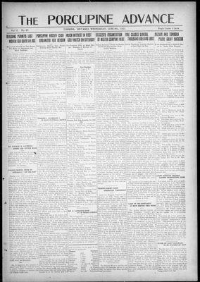 Porcupine Advance, 8 Jun 1921