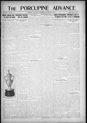 Porcupine Advance, 22 Jun 1921