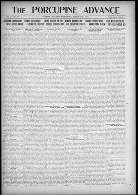Porcupine Advance, 24 Aug 1921