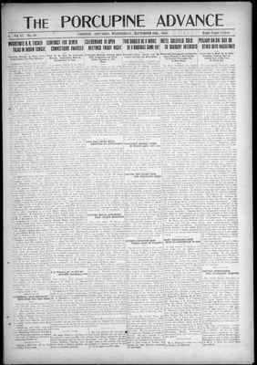 Porcupine Advance, 28 Sep 1921