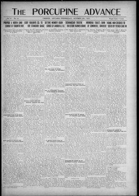 Porcupine Advance, 12 Oct 1921