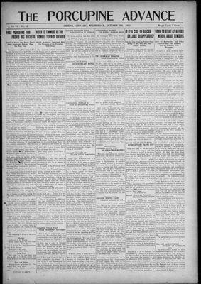 Porcupine Advance, 19 Oct 1921
